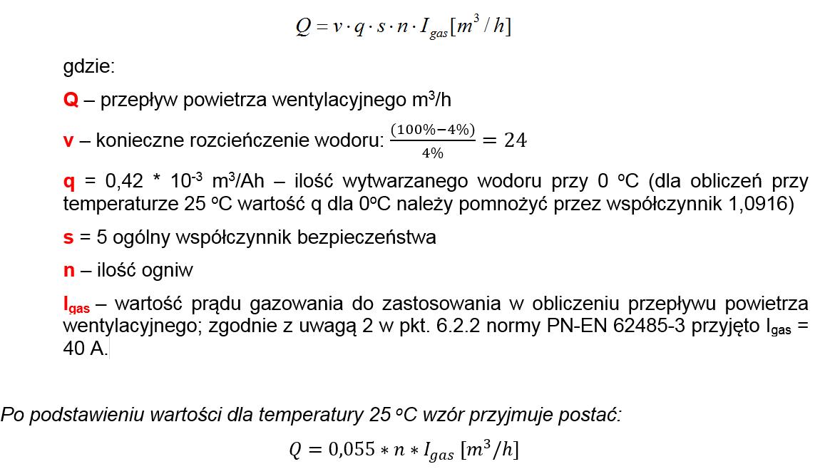 Minimalny przepływ powietrza - wodór